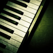 Old piano keyboard — Stock Photo