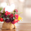 Beautiful artificial flowers — Stock Photo