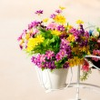 Beautiful artificial flowers - Stock Photo