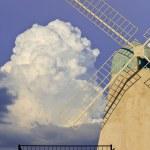 Wind turbine and blue sky — Stock Photo #14891683
