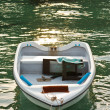 Boat in clear water — Stock Photo