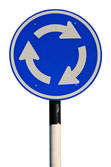 Circle traffic sign — Stock Photo