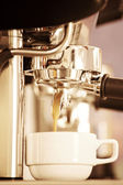 Coffee machine in old style processed — Stock Photo
