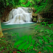 Waterfall in tropical forest, west of Thailand - Stock Photo