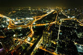Bangkok, capital city of Thailand from high angle view — Stock Photo