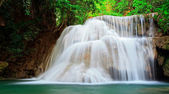 Waterfall in tropical forest, west of Thailand — Stock Photo