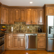 Kitchen  mocha wood cabinet — Foto Stock