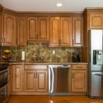 Kitchen mocha wood cabinet — Stock Photo #21168729