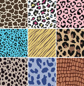 Animal seamless skin pattern fabric — Stock Vector