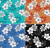 Hibiscus flower seamless fabric textile — Stock Vector