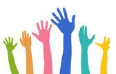 Diversity Hands — Stock Vector