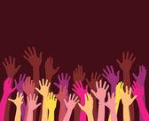 Reaching hands — Stock Vector