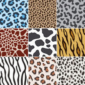 Seamless animal skin fabric pattern texture — Stock Vector