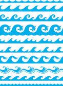 无缝海洋波集 — 图库矢量图片