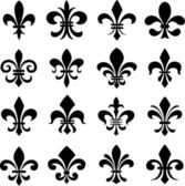Klasický fleur de lys sada symbolů — Stock vektor