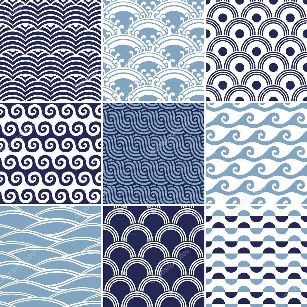 Seamless ocean wave pattern — Stock Vector © pauljune ... Ocean Water Pattern