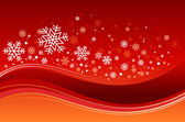 Christmas background with snowflakes — Stockvector