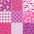 Seamless heart pattern for valentines day — Stock Vector #17973507