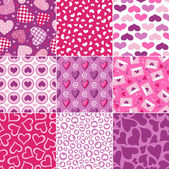 Seamless heart pattern for valentines day — Stock Vector