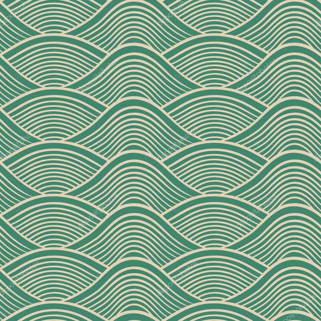 Japanese seamless ocean wave pattern - Stock IllustrationJapanese Wave Pattern