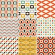 Seamless retro pattern — Stock Vector