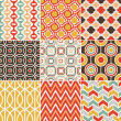 ストックベクタ: Seamless retro pattern