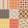 Stock vektor: Seamless retro pattern