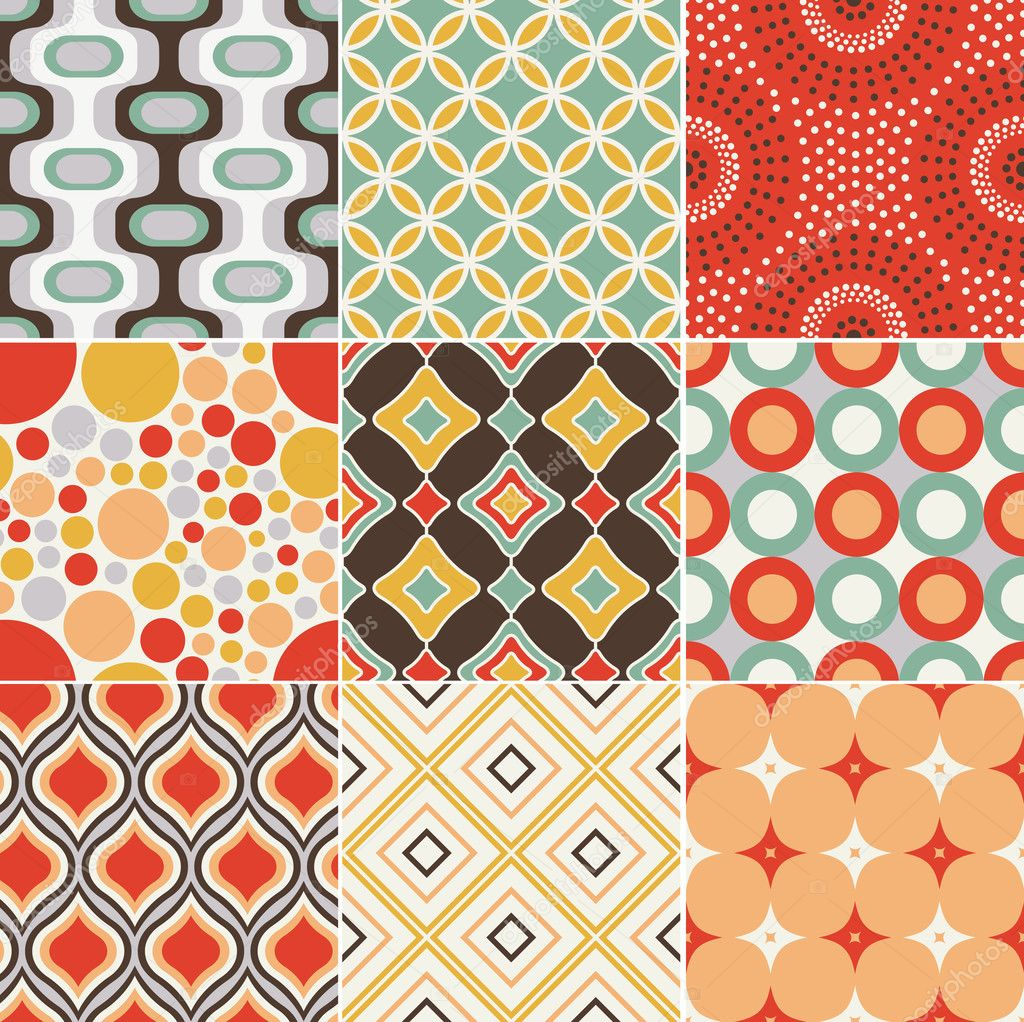 Seamless retro pattern stock vector pauljune 18880323 - Papier peints vintage ...