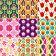 Seamless retro flower pattern - Stok Vektör
