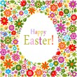 Stock vektor: Flower pattern easter card cover