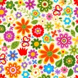 Seamless retro flower pattern - Image vectorielle