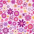 Cute floral seamless background — Stock Vector #19924973