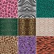 Seamless animal skin fabric pattern - Stock Vector
