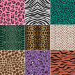 Seamless animal skin fabric pattern — Stock Vector #19924979