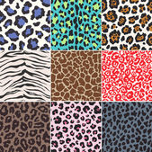Seamless animal skin fabric pattern — Stock Vector