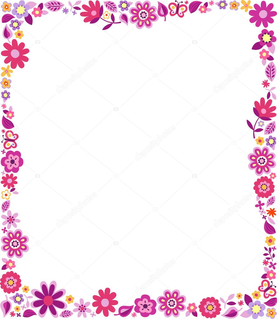 Displaying 19> Images For - Purple Floral Borders And Frames...