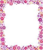 Floral pattern border frame — Stock Vector