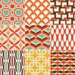 Seamless retro pattern print - Stock Vector