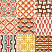 Seamless retro pattern print — Stock Vector