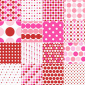Seamless polka dots print — Stock Vector