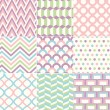 Seamless Retro Pattern Print — Stock Vector