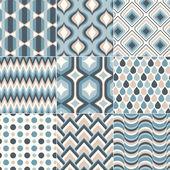 Šedozelená modré pastelové barvy vzor — Stock vektor