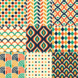 Seamless retro pattern print — Stock Vector #26351891