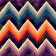 Seamless retro zig zag background  — Stock Vector