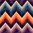 Seamless retro zig zag background — Stock Vector