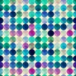 Seamless retro polka background — Vector de stock