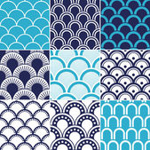 Seamless ocean wave pattern — Stock Vector