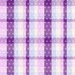 Seamless plaid polka dots texture  — Vettoriali Stock