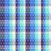 Seamless plaid polka dots texture — Stock Vector