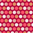 Seamless retro polka dots background — Stock Vector